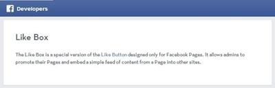 Banner sviluppatori Facebook